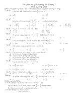 Kiểm tra đại số chương I lớp 11