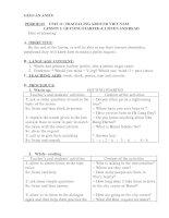 Giáo án tiếng anh 8 Học kì II (Unit 11)