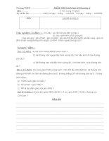 Đề KIỂM TRA Hình học 9-chương III