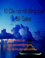10 câu nói của Bill Gates