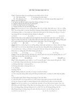 ĐỀ ÔN THI ĐẠI HỌC SỐ 14