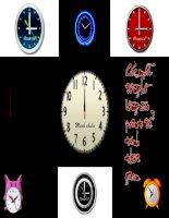 Siêu tầm các mẫu đồng hồ lồng vào point để tính thời gian.
