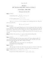 Đề thi chọn HSG cấp tỉnh toán 9 có đáp án (đề 7)