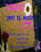 Bai du thi BGDT Bai 12 - tieng anh lop 10 unit 12 : music (reading)