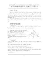 Phương pháp giải Toán về đường trung bình ..