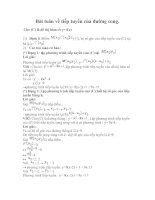 Bài toán về tiếp tuyến của đường cong