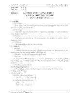 Bài 8 Một số PT, BPT quy về bậc hai (Tiết 1)