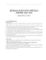 Ke Hoach mon theduc