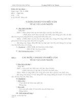 Giáo án Ngu văn 9-HKI ( Nh:08-09) ( 4 cột)