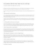8 cách hay để bắt đầu ngày làm việc