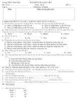 đề kiểm tra giữa kì I 6,7,8