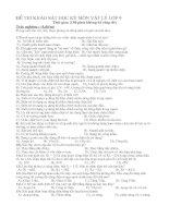 một số đề kiểm tra vật lý lớp 9