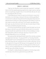 NHỮNG GIẢI PHÁP NHẰM NÂNG CAO HOẠT ĐỘNG QUẢN TRỊ NGHIỆP VỤ BÀN,BẾP TẠI NHÀ HÀNG PANE E VINO
