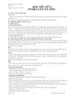 Ra đề bài số 2 (tiết 15)