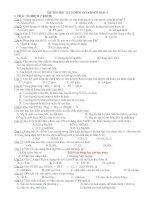 thi học kì II hóa 10