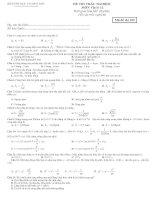 8 mã đề KS vật lý 12 Kì II