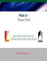 Giáo trình Powerpoint - Tin học cơ sở V2.0
