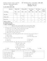 Đề thi Ngữ Văn 6 (HK I 08-09)