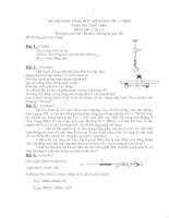 Đề thi học sinh giỏi vật lý 12