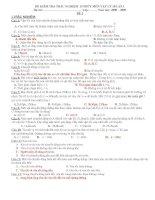 KT 1T DỀ 2 LỚP 10 NC C.I.CÓ ĐA
