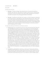 Lý thuyết trò chơi và ứng dụng trong kinh doanh - Phần bài tập