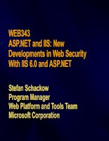 Developments in Web Security With IIS 6.0 and ASP.NET