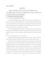 MỘT SỐ GIẢI PHÁP VÀ KIẾN NGHỊ ĐỂ THÚC ĐẨY XUẤT KHẨU HÀNG NÔNG SẢN CỦA CÔNG TY HAPROSIMEX