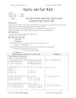 Giáo án ôn tập  toán 8
