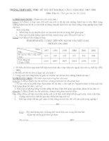 đề thi thử đại học lần 1