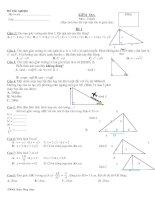 Bài tập trắc nghiệm hệ thức lượng trong tam giác vông