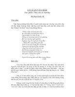 Bài thi học phần: Lí luận văn học