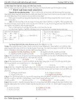 Chủ đề 4:Phương pháp giải nhanh hóa học(LTĐH)
