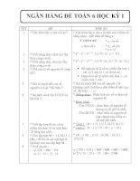 NGÂN HÀNG ĐỀ BỘ MÔN TOÁN KHỐI 6 - HK I