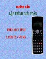 Su dung may tinh bo tui CASINO FX-570MS