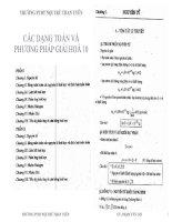 các dạng toán và phương pháp giải hóa 10