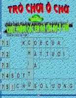 Trò chơi Ô chữ_KTBC- Chỉ từ