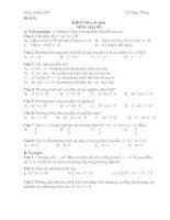 đề kiểm tra 1 tiết đại số 9
