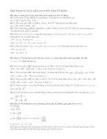 Bài tập về tích vô hướng của hai véctơ