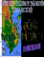 Tiết 38, Bài 32: Các mùa khí hậu và thờì tiết ở nước ta
