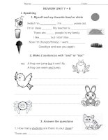 let''s go 1: Unit 7+8: review worksheet