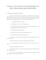 Giao trinh Khoa hoc moi truong - Chuong 3