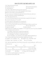 Bài tập TN Hóa Hữu cơ