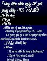 Thông điệp nhân ngày thế giới phòng chống AIDS, 1.12.2003