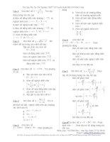 Ôn thi môn toán THPT.