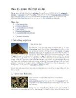 Bảy kỳ quan thế giới cổ đại