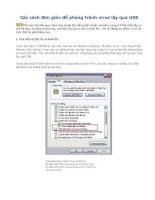 Các cách đơn giản để phòng tránh virus lây qua USB