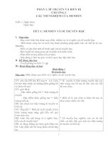 Giáo án chương I sinh 9 NT