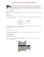 Sử dụng công cụ Draw trong Microsoft Word