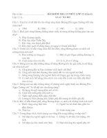 kt 15 phut trac nghiem 12 lan 4 (de II) dap an