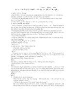 bài viết số 5 - Nghị luận văn học